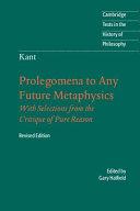 Immanuel Kant  Prolegomena to Any Future Metaphysics