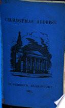 Christmas Address St George S Bloomsbury 1861 Book PDF