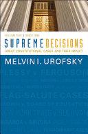 Supreme Decisions, Volume 2