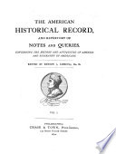 The American Historical Record
