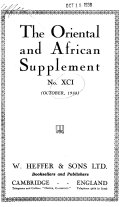 The Oriental and African Supplement