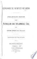 Preliminary Report Upon Petroleum and Inflamable Gas