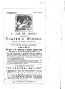 A List of Books Published by Chatto   Windus