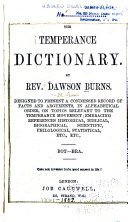 The Temperance Dictionary