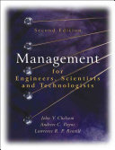 Management For Engineers Scientists And Technologists