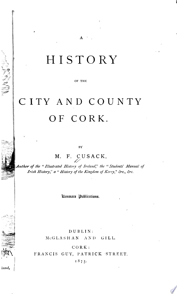 A History of the City and County of Cork