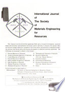 International Journal of the Society of Materials Engineering for Resources