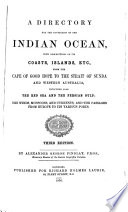 A Directory for the Navigation of the Indian Ocean Book