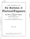 Journal of the Institution of Electrical Engineers