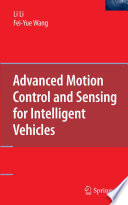 Advanced Motion Control and Sensing for Intelligent Vehicles Book