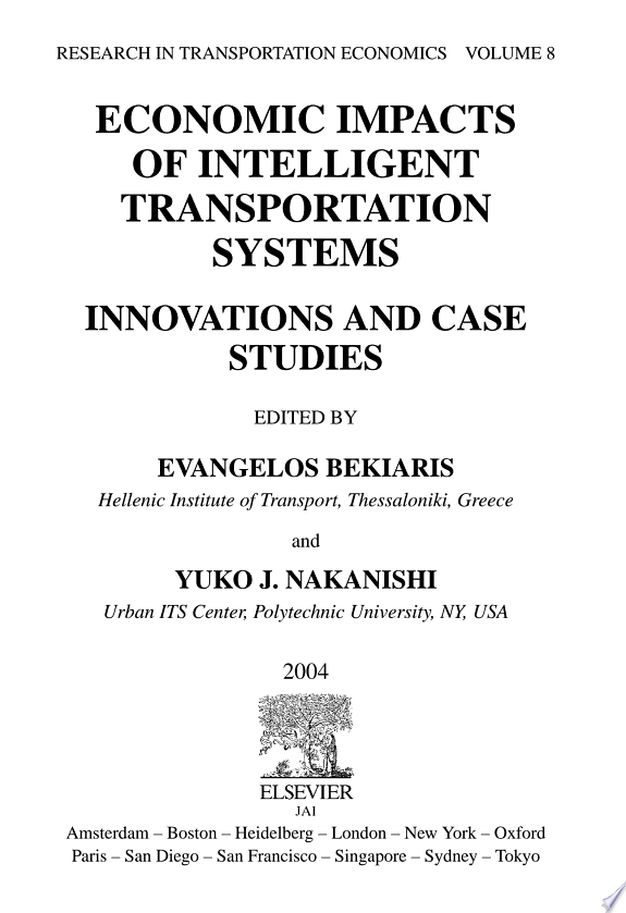 Economic Impacts of Intelligent Transportation Systems