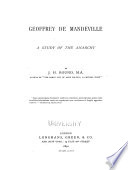 Geoffrey de Mandeville Book