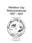 Marathon City Sesquicentennial  1857 2007 Book
