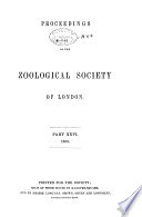 Proceedings of the Zoological Society of London Book PDF