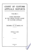 Court of Customs Appeals Reports