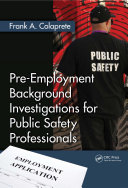 Pdf Pre-Employment Background Investigations for Public Safety Professionals Telecharger