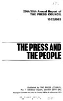Annual Report of the Press Council
