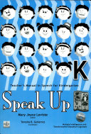 Speak Up Kindergarten Teacher s Manual1st Ed  2007
