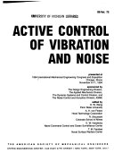 Active Control Of Vibration And Noise Book PDF