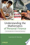 Understanding the Mathematics of Personal Finance Book PDF