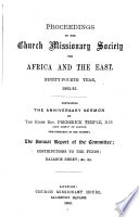 Proceedings of the Church Missionary Society for Africa and the East...