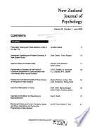 New Zealand Journal of Psychology