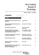 New Zealand Journal of Psychology