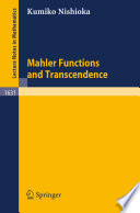 Mahler Functions and Transcendence Book PDF
