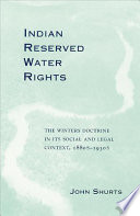 Indian Reserved Water Rights