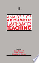 Analysis of Arithmetic for Mathematics Teaching Book