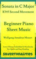 Sonata in C Major K545 Second Movement Beginner Piano