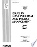 Issues in NASA Program and Project Management Pdf/ePub eBook