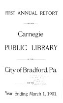 Annual Report Of The Carnegie Public Library
