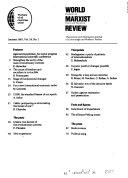 World Marxist Review Book PDF