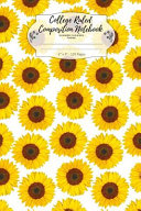 College Ruled Composition Notebook  Summer Flowers Theme