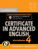 Cambridge Certificate in Advanced English 4 for Updated Exam Student's Book with Answers