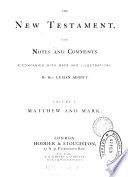 The New Testament  with notes and comments by L  Abbott