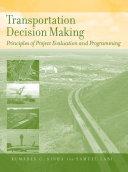 Transportation Decision Making [Pdf/ePub] eBook