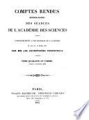 Comptes rendus hebdomadaires des séances de l'Académie des sciences de Paris
