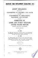 Headstart  Child Development Legislation  1972