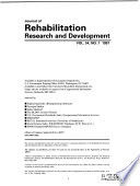 Journal of Rehabilitation Research and Development