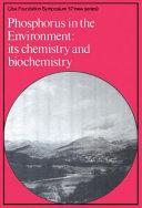 Phosphorus in the Enviroment ebook