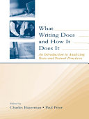 Pdf What Writing Does and How It Does It Telecharger