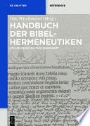 Handbuch der Bibelhermeneutiken  : Von Origenes bis zur Gegenwart