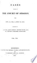 Cases decided in the Court of session  Teind court  and House of lords  from 1841 to  1862  Book PDF