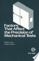 Factors that Affect the Precision of Mechanical Tests