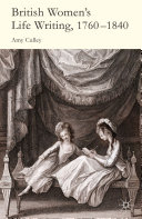 Pdf British Women's Life Writing, 1760-1840 Telecharger