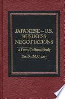 Japanese-U.S. business negotiations