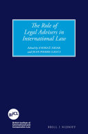 Pdf The Role of Legal Advisers in International Law