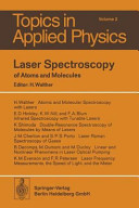 Laser Spectroscopy of Atoms and Molecules